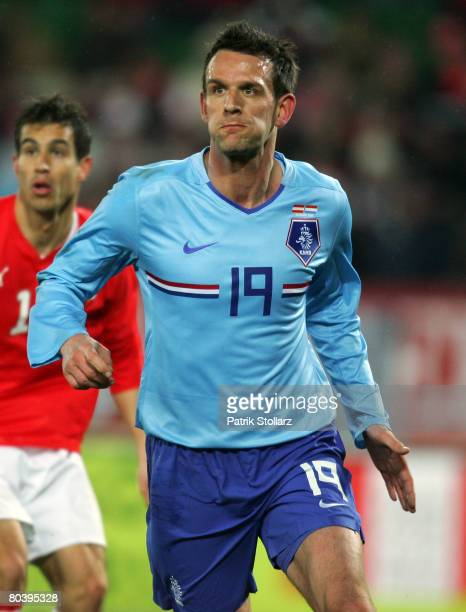 Jan Vennegoor of Hesselink of the Netherlands looks on during the international friendly match between Austria and Netherlands at the Ernst Happel...