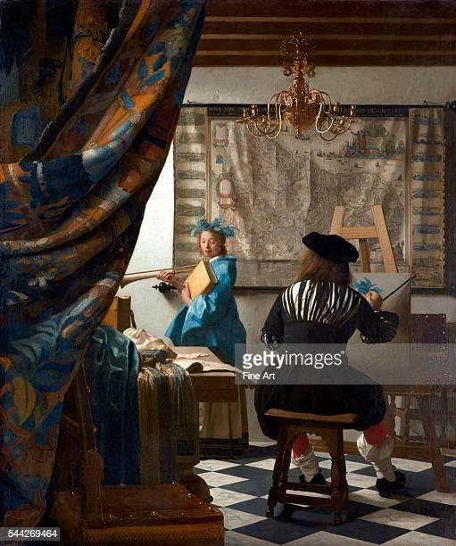 Jan Vermeer The Art of Painting 166668 oil on canvas 120 x 100 cm Kunsthistorisches Museum Vienna
