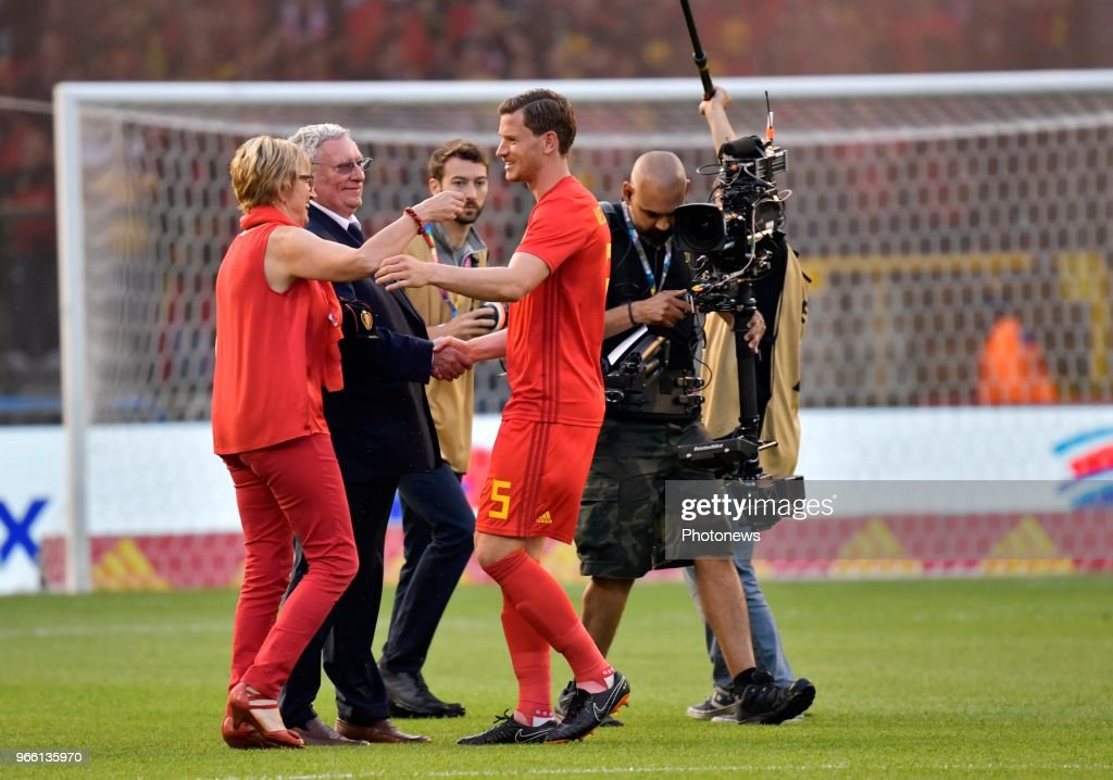 Jan Vertonghen defender of Belgium during a FIFA international friendly match between Belgium and Portugal as preparation for the 2018 FIFA World Cup Russia at the King Baudouin Stadium on June 02, 2018 in Brussels, Belgium , 2/06/18