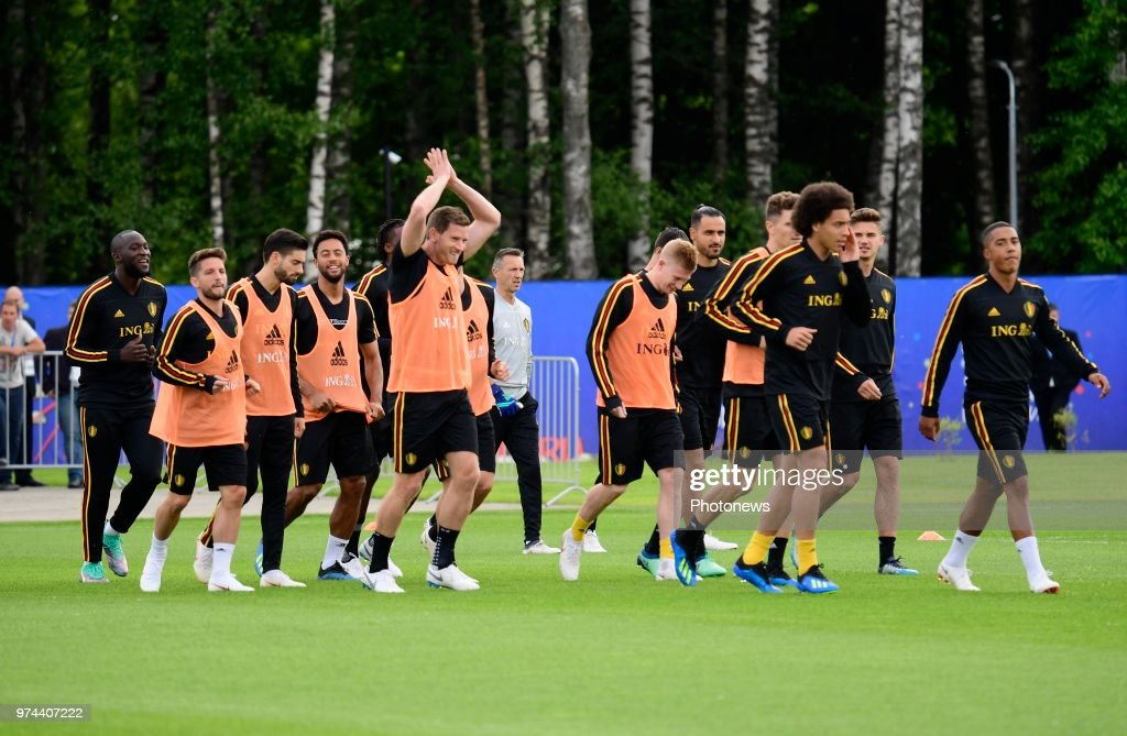 Jan Vertonghen defender of Belgium during a training session of the National Soccer Team of Belgium as part of the preparation prior to the FIFA 2018 World Cup Russia group G phase match between Belgium and Panama at the Guchkova Sports center in Dedovsk on June 14, 2018 in Moscow, Russia,