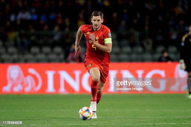 Jan Vertonghen of Belgium during the EURO Qualifier match between Belgium v San Marino at the Koning Boudewijn Stadium on October 10, 2019 in Brussel...