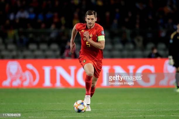 Jan Vertonghen of Belgium during the EURO Qualifier match between Belgium v San Marino at the Koning Boudewijn Stadium on October 10 2019 in Brussel...