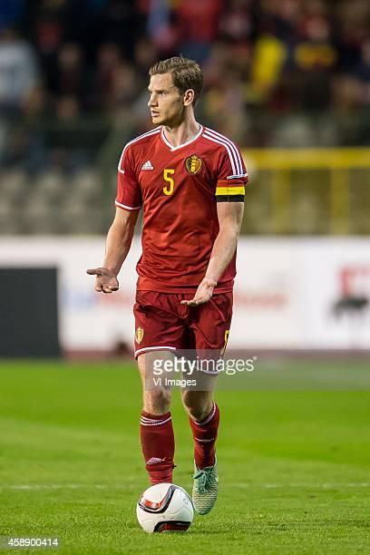 Jan Vertonghen of Belgium during the International friendly match between Belgium and Iceland on November 12 2014 at the Koning Boudewijn stadium in...