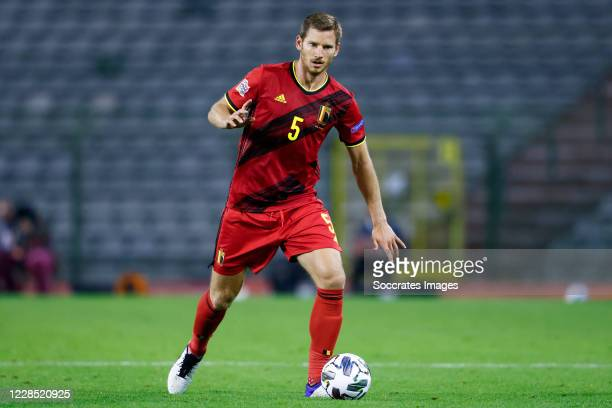 Jan Vertonghen of Belgium during the UEFA Nations league match between Belgium v Iceland at the King Baudouin Stadium on September 8 2020 in brussel...