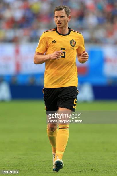 Jan Vertonghen of Belgium in action during the 2018 FIFA World Cup Russia 3rd Place Playoff match between Belgium and England at Saint Petersburg...