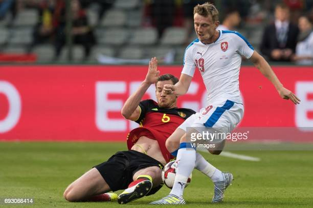 Jan Vertonghen of Belgium Ladislav Krejci of Czech Republicduring the friendly match between Belgium and Czech Republic on June 05 2017 at the Koning...