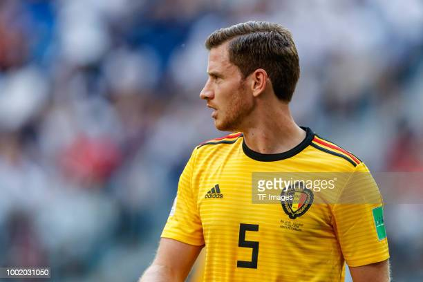 Jan Vertonghen of Belgium looks on during the 2018 FIFA World Cup Russia 3rd Place Playoff match between Belgium and England at Saint Petersburg...
