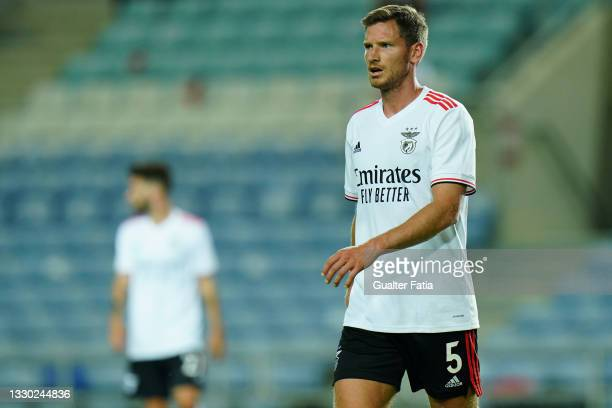 Jan Vertonghen of SL Benfica during the Pre-Season Friendly match between SL Benfica and Lille at Estadio Algarve on July 22, 2021 in Loule, Portugal.
