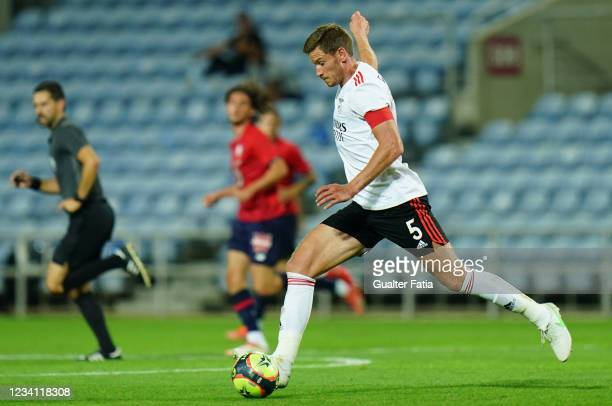 Jan Vertonghen of SL Benfica in action during the Pre-Season Friendly match between SL Benfica and Lille at Estadio Algarve on July 22, 2021 in...