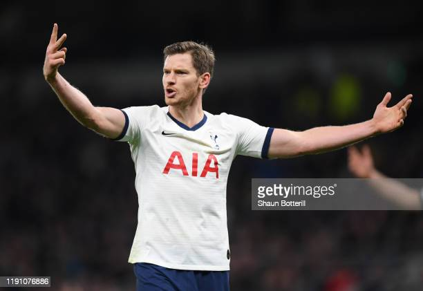 Jan Vertonghen of Tottenham Hotspur during the Premier League match between Tottenham Hotspur and AFC Bournemouth at Tottenham Hotspur Stadium on...