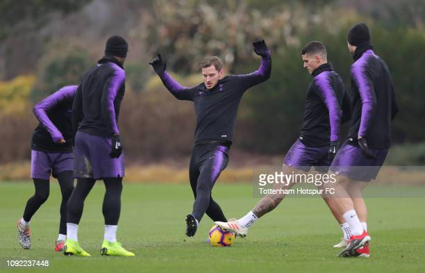 Jan Vertonghen of Tottenham Hotspur during the Tottenham Hotspur training session at Tottenham Hotspur Training Centre on January 10 2019 in Enfield...