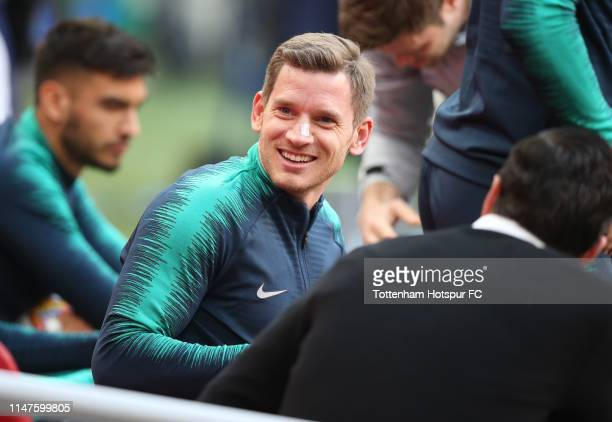 Jan Vertonghen of Tottenham Hotspur during the Tottenham Hotspur training session at Johan Cruyff Arena on May 07 2019 in Amsterdam Netherlands