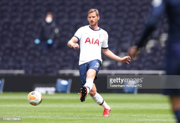 Jan Vertonghen of Tottenham Hotspur during the Tottenham Hotspur training session at Tottenham Hotspur Stadium on June 05, 2020 in London, England.