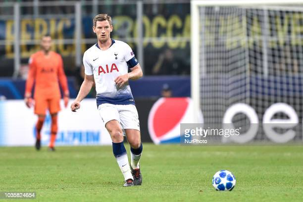 Jan Vertonghen of Tottenham Hotspur during the UEFA Champions League Group B match between Inter Milan and Tottenham Hotspur at Stadio San Siro Milan...