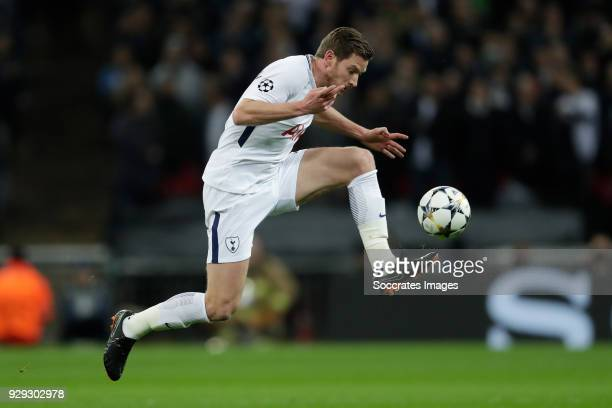 Jan Vertonghen of Tottenham Hotspur during the UEFA Champions League match between Tottenham Hotspur v Juventus at the Wembley Stadium on March 7...