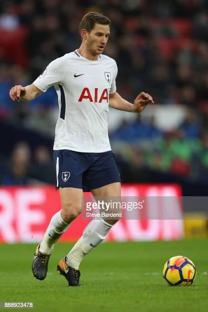 Jan Vertonghen of Tottenham Hotspur in action during the Premier League match between Tottenham Hotspur and Stoke City at Wembley Stadium on December...