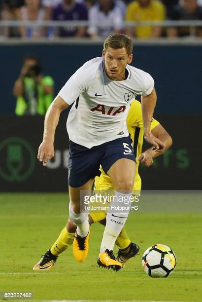 Jan Vertonghen of Tottenham Hotspurs works the ball against Paris SaintGermain during a International Champions Cup 2017 game at Camping World...