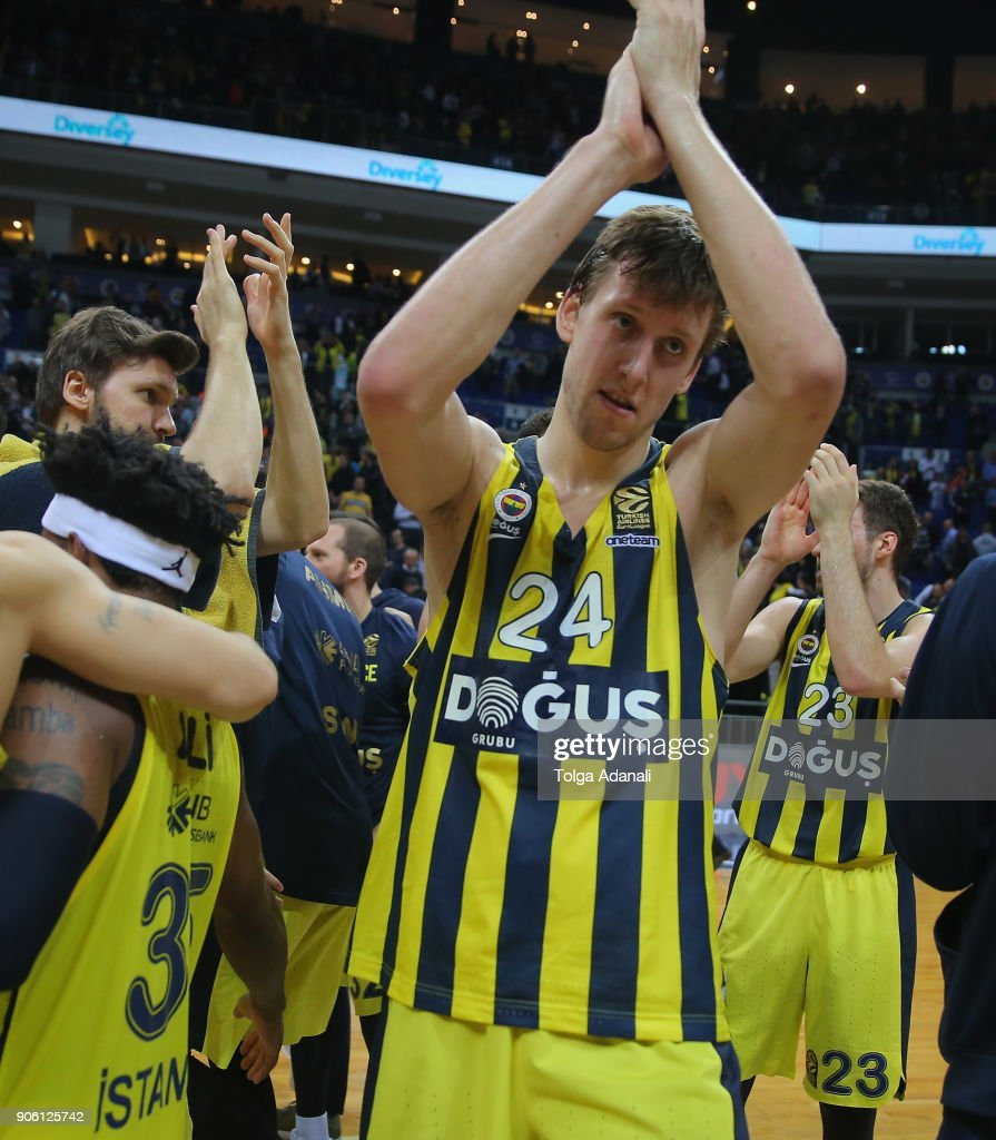 Jan Vesely, #24 of Fenerbahce Dogus during the 2017/2018 Turkish Airlines EuroLeague Regular Season Round 18 game between Fenerbahce Dogus Istanbul and Panathinaikos Superfoods Athens at Ulker Sports and Event Hall on January 17, 2018 in Istanbul, Turkey.