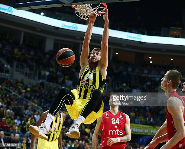 Jan Vesely #24 of Fenerbahce Istanbul in action during the 2016/2017 Turkish Airlines EuroLeague Regular Season Round 11 game between Fenerbahce...