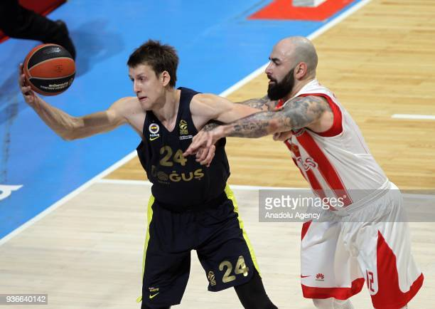 Jan Vesely of Fenerbahce Dogus in action during the Turkish Airlines Euroleague week 28 basketball match between KK Crvena Zvezda and Fenerbahce...