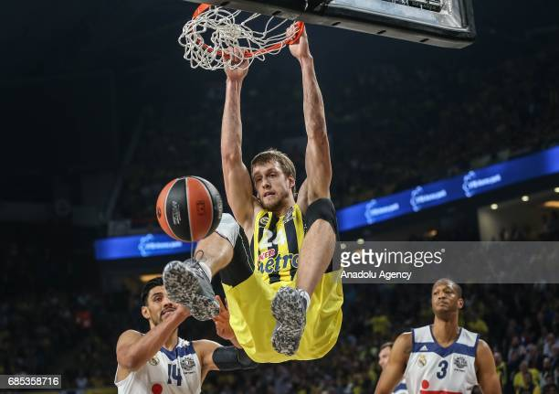 Jan Vesely of Fenerbahce in action during the Turkish Airlines Euroleague Final Four basketball match between Fenerbahce and Real Madrid at Sinan...