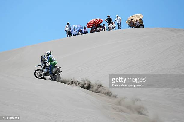Jan Vesely of the Czech Republic for Yamaha Bonver Dakar Project competes on Day 2 of the Dakar Rally 2014 on January 6 2014 in the Dunes of Nihuil...