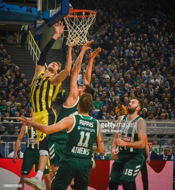 Jan Vesley of Fenerbahce seen in action during the Euroleague basketball game between Panathinaikos BC v Fenerbachce at Olympic Sports Center Athen