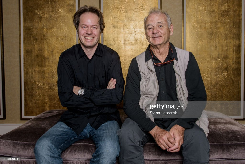 Jan Vogler and Bill Murray pose for a photo during Universal Inside 2017 organized by Universal Music Group at Mercedes-Benz Arena on September 6, 2017 in Berlin, Germany.