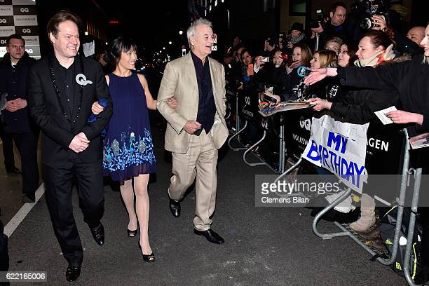 Jan Vogler Mira Wang and Bill Murray arrive at the GQ Men of the year Award 2016 at Komische Oper on November 10 2016 in Berlin Germany
