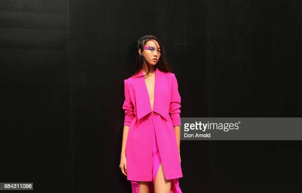 Jan wearing Wanderlustletar by Nara dress shoes and accessories during MercedesBenz Fashion Week Resort 18 Collections at Carriageworks on May 18...