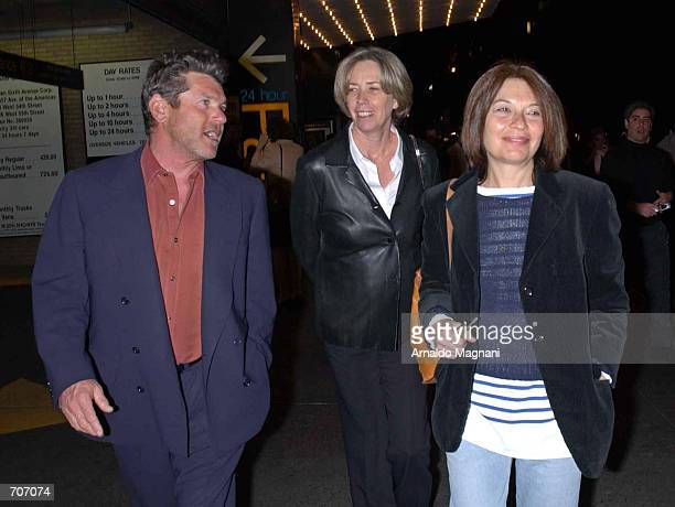 Jan Weiner Melissa Mathison exwife of actor Harrison Ford and an unidentified friend leave after attending the premiere of the film The Last Waltz...