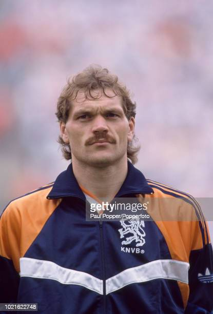 Jan Wouters of the Netherlands lines up before the UEFA Euro 88 Final between the Soviet Union and the Netherlands at the Olympiastadion on June 25...