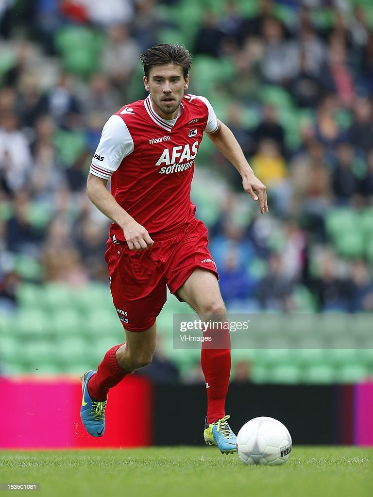Jan Wuytens of AZ during the Dutch Eredivisie match between FC Groningen and AZ Alkmaar at De Euroborg on Oktober 6, 2013 in Groningen, The Netherlands