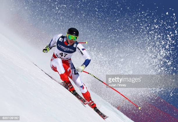 Jan Zabystran of Czech Republic competes in the Men's Combined Downhill during the FIS Alpine World Ski Championships on February 13 2017 in St...