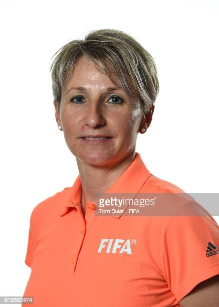 Jana Adamkova of Czech Republic poses for photographs during the FIFA Women's Referee Seminar on February 14 2018 in Doha Qatar