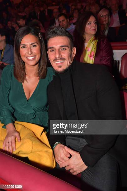 Jana Azizi and Mohamed Aidi at the premiere of the Circus Krone new winter program on December 25 2019 in Munich Germany