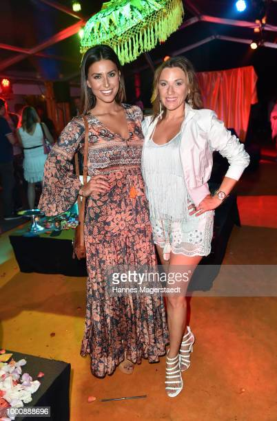 Jana Azizi and Simone Ballack during 'Temple of Sun' the P1 summer party at P1 on July 17 2018 in Munich Germany