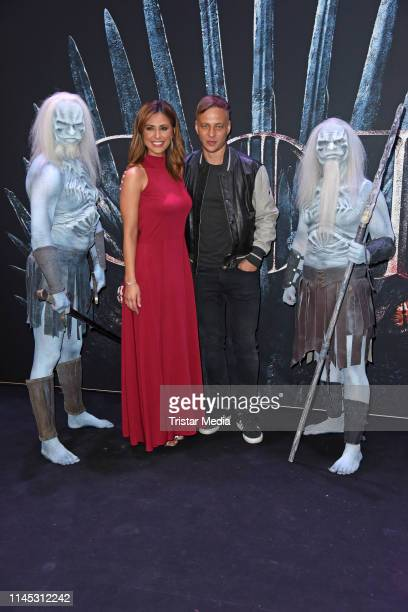 Jana Azizi and Tom Wlaschiha attend the Game of Thrones TV series VIP screening at Kino in der Kulturbrauerei on May 20 2019 in Berlin Germany