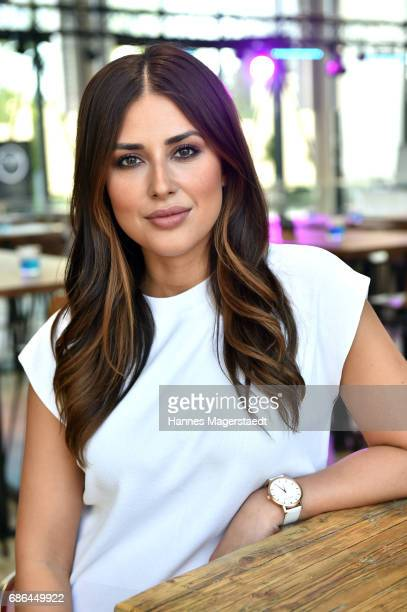 Jana Azizi attend the Pre Golf Party during the 9th Golf Charity Cup hosted by the Christoph Metzelder Foundation at the Jochen Schweizer Arena on...