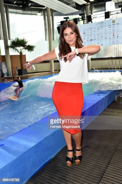 Jana Azizi attends the Pre Golf Party during the 9th Golf Charity Cup hosted by the Christoph Metzelder Foundation at the Jochen Schweizer Arena on...