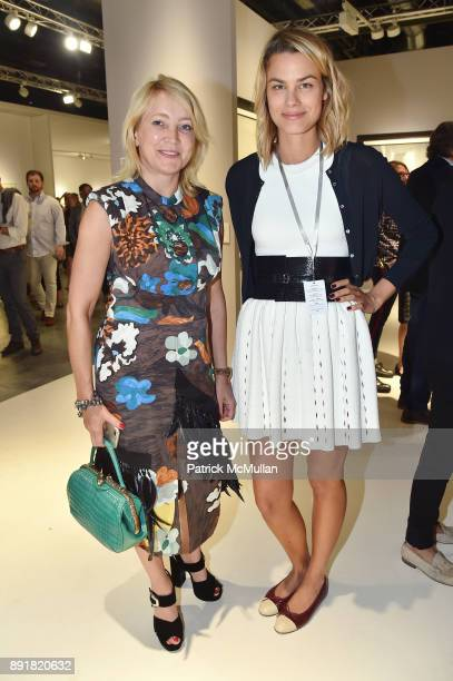Jana Bullock and Isabelle Bscher attend Art Basel Miami Beach Private Day at Miami Beach Convention Center on December 6 2017 in Miami Beach Florida