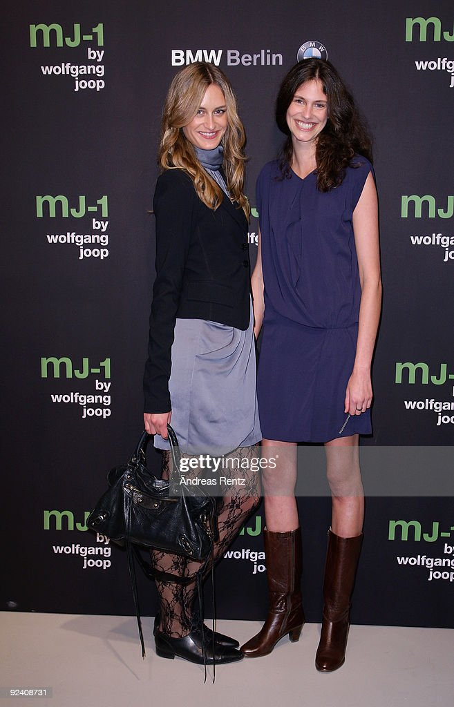 Jana Drews (L) and Fabienne Sauvant attend the launch to the MJ-1 by Wolfgang Joop at Berliner Freiheit on October 27, 2009 in Berlin, Germany.
