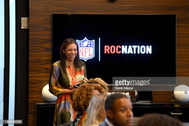 Jana Fleishman of Roc Nation attends the Roc Nation and NFL Partnership Announcement at Roc Nation on August 14 2019 in New York City