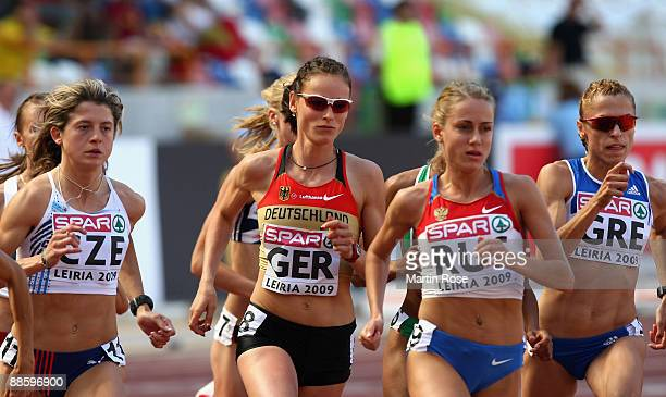 Jana Hartmann of Germany competes during the women's 800m during day one at the Spar European Team Championship at the Estadio Municipal DrMagalhaes...