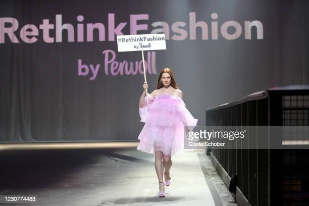 Jana Heinisch during the ABOUT YOU Fashion Week, AYFW, Perwoll show production at Kraftwerk on January 23, 2021 in Berlin, Germany.