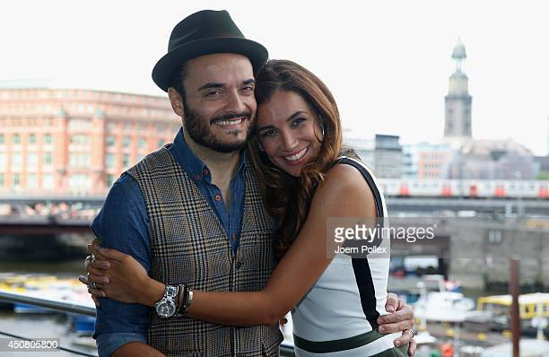 Jana Ina and Giovanni Zarrella pose during a Orbit G3 Preview event at Elbdeck on June 18 2014 in Hamburg Germany