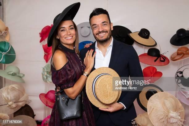 "Jana Ina Zarella and Giovanni Zarella attend the 147th ""Longines Grosser Preis von Baden"" on September 01, 2019 in Baden-Baden, Germany."
