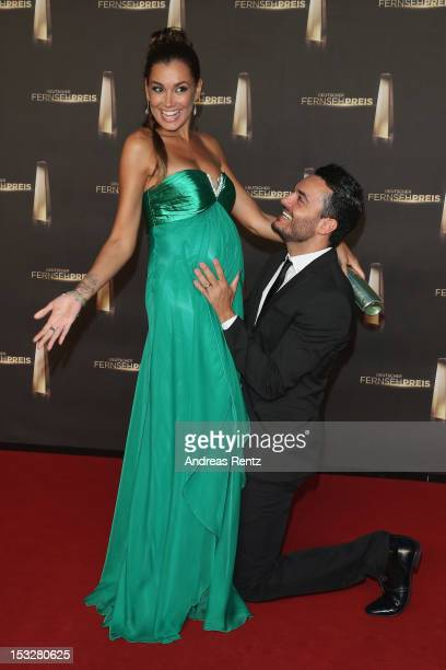 Jana Ina Zarella and Giovanni Zarella arrive for the German TV Award 2012 at Coloneum on October 2 2012 in Cologne Germany