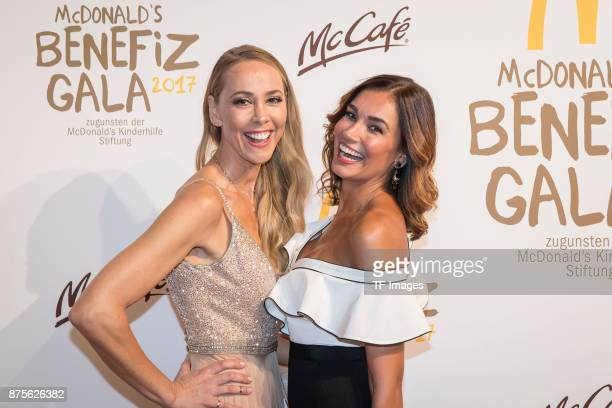 Jana Ina Zarella and Sylvia Walker attends the McDonald's charity gala at Hotel Bayerischer Hof on November 10 2017 in Munich Germany