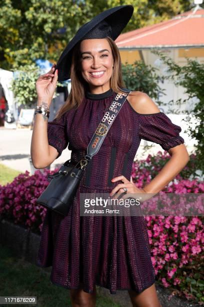 "Jana Ina Zarella attends the 147th ""Longines Grosser Preis von Baden"" on September 01, 2019 in Baden-Baden, Germany."